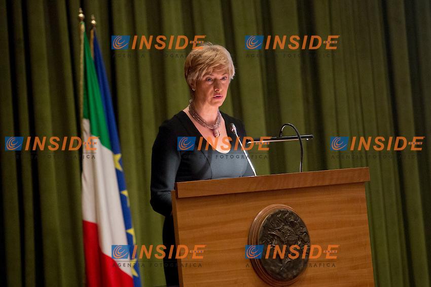 Roberta Pinotti<br /> Roma 11-02-2015 Inaugurazione dell'Anno accademico della Scuola Allievi Ufficiali dei Carabinieri.<br /> Photo Samantha Zucchi Insidefoto