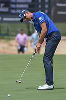 Henrik Stenson (SWE) watches his putt on 1 during round 1 of the AT&T Byron Nelson, Trinity Forest Golf Club, Dallas, Texas, USA. 5/9/2019.<br /> Picture: Golffile | Ken Murray<br /> <br /> <br /> All photo usage must carry mandatory copyright credit (© Golffile | Ken Murray)