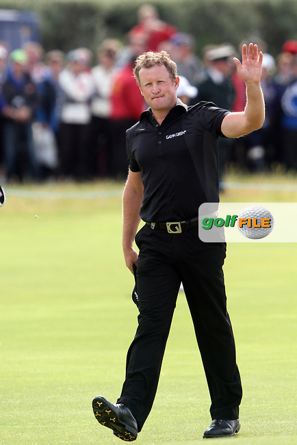 Jamie Donaldson (WAL) on the 18th on Day 4 of the 2012 Irish Open at Royal Portrush Golf Club, Portrush, Co.Antrim, 1/7/12...(Photo Jenny Matthews/www.golffile.ie)