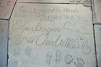 Edgar Bergan, Charlie McCarthy,  Hand - Footprint, Impressions, Grauman's, Chinese, Theater, Hollywood, CA