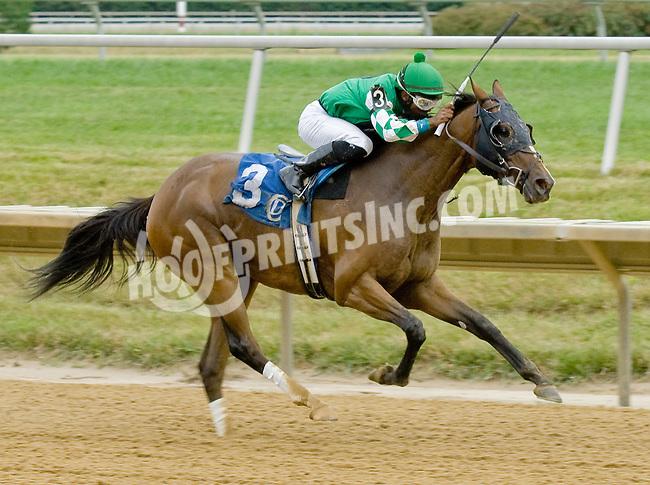 Bwana Jon winning at Delaware Park on 7/21/12