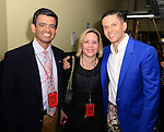 CORAL GABLES, FL - JULY 17: Humberto M. Speziani (L), wife and Rodner Figueroa poses backstage at the Premios Juventud 2014 at The BankUnited Center on July 17, 2014 in Coral Gables, Florida.  (Photo by Johnny Louis/jlnphotography.com)