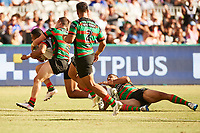 David Fusitu'a of the NZ Warriors sores a try, Rabbitohs v Vodafone Warriors, NRL rugby league premiership. Optus Stadium, Perth, Western Australia. 10 March 2018. Copyright Image: Daniel Carson / www.photosport.nz
