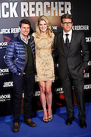Actor Tom Cruise, actress Rosemound Pike and director Christopher McQuarrie attends the 'Jack Reacher' premiere at the Callao cinema in Madrid, Spain. December 13, 2012. (ALTERPHOTOS/Caro Marin) /NortePhoto