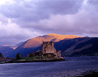 Eilean Donan Castle, Scottish Highlands, Scotland, UK  Originally built in 1230, rebuilt in 1912       Lochs Alsh, Long, and Duich