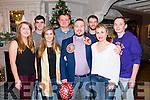Michael O'driscoll from Killarney celebrated his birthday with Hannah McCarthy, Darragh Byrne, Ciara Byrne, Jury mosiins, Benion O'Connor, Aoife O'Driscoll and Garvin Daly in the Avenue Hotel, Killarney last Saturday night.