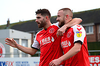 Fleetwood Town's Paddy Madden celebrates scoring his side's first goal with Ched Evans  <br /> <br /> Photographer Richard Martin-Roberts/CameraSport<br /> <br /> The EFL Sky Bet League One - Fleetwood Town v Doncaster Rovers - Wednesday 26th December 2018 - Highbury Stadium - Fleetwood<br /> <br /> World Copyright © 2018 CameraSport. All rights reserved. 43 Linden Ave. Countesthorpe. Leicester. England. LE8 5PG - Tel: +44 (0) 116 277 4147 - admin@camerasport.com - www.camerasport.com