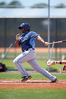 Tampa Bay Rays Devin Davis (55) during a minor league Spring Training game against the Boston Red Sox on March 23, 2016 at Charlotte Sports Park in Port Charlotte, Florida.  (Mike Janes/Four Seam Images)
