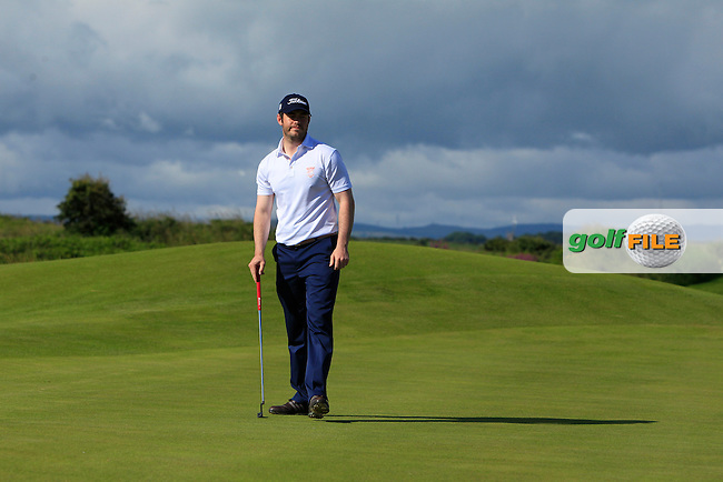 Aaron Kearney (Castlerock) on the 3rd green during Round 3 of Matchplay in the North of Ireland Amateur Open Championship at Portrush Golf Club, Portrush on Thursday 14th July 2016.<br /> Picture:  Thos Caffrey / www.golffile.ie