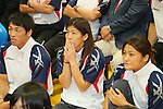 (L to R) Tatsuhiro Yonemitsu,Saori Yoshida, Kaori Icho, SEPTEMBER 9, 2013 - Wrestling : Japanese Wrestling team watched Vote for an additional game determination of the Olympic Summer Games 2020 at Ajinomoto Traning center, Tokyo, Japan. (Photo by Yusuke Nakanishi/AFLO SPORT)
