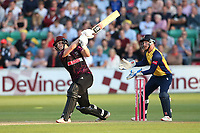 Tom Abell hits 6 runs for Somerset during Essex Eagles vs Somerset, Vitality Blast T20 Cricket at The Cloudfm County Ground on 7th August 2019