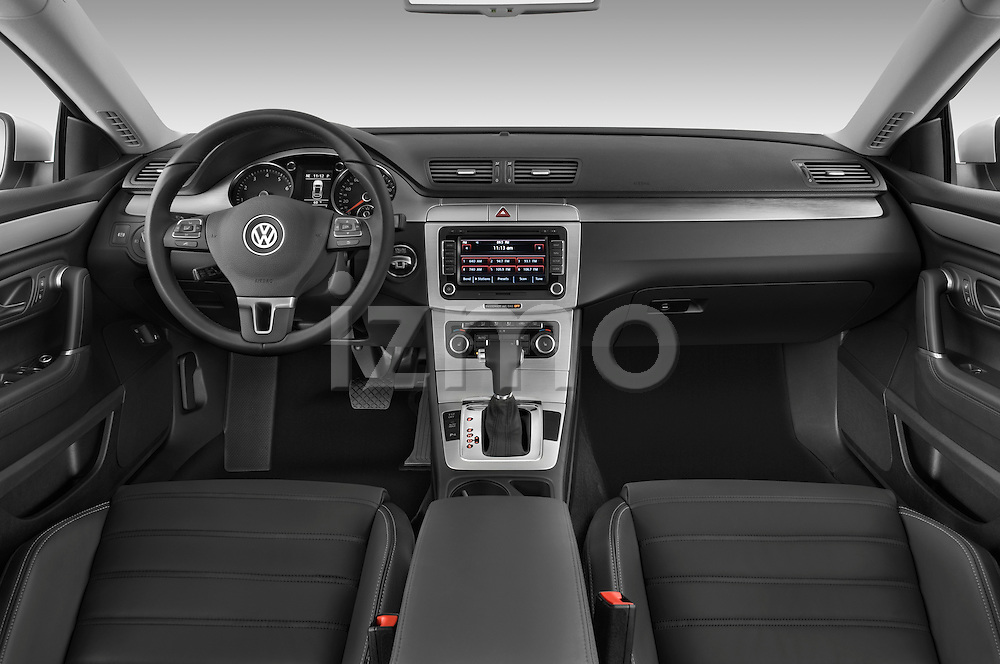 Straight dashboard view of a 2009 volkswagen cc luxary.