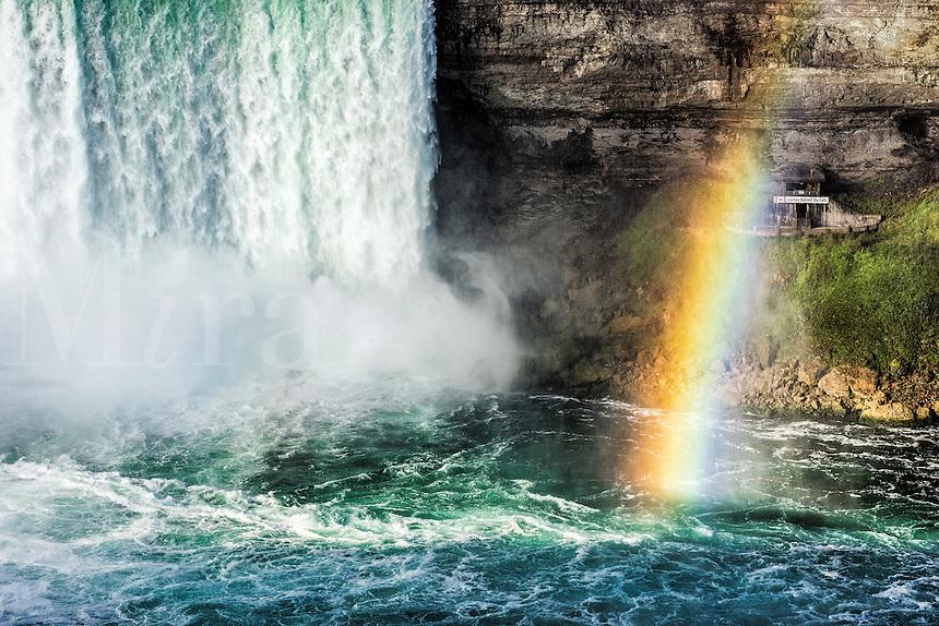 Horse Shoe Falls and rainbow, Niagara Falls, Canada.