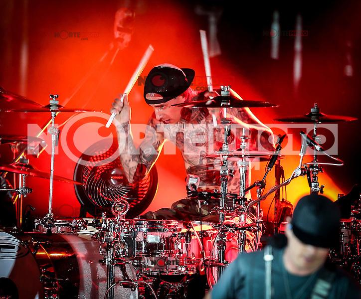 LAS VEGAS, NV - September 28:  Blink-182 performs at The Boulevard Pool at The Cosmopolitan of Las Vegas on September 28, 2012 in Las Vegas, Nevada. © Kabik/ Starlitepics/MediaPunch Inc. /NortePhoto