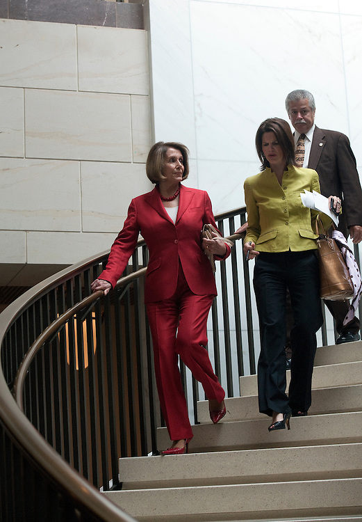UNITED STATES - JULY 19:  Nancy Pelosi, D-CA., arrives at the House Democratic Caucus closed meeting, beginning at 9 a.m., on party matters in HVC-215, of the U.S. Capitol on July 19, 2011..(Photo By Douglas Graham/Roll Call)
