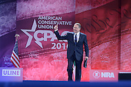 National Harbor, MD - March 3, 2016: Wayne LaPierre of the National Rifle Association walks on stage before addressing attendees of the 2016 Conservative Political Action Conference, hosted by the American Conservative Union, at the Gaylord National Hotel in National Harbor, MD, March 3, 2016. Each year, CPAC brings thousands of  people together to hear and interact with conservative movement leaders.   (Photo by Don Baxter/Media Images International)