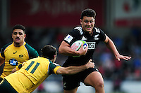 Peter Umaga-Jensen of New Zealand U20 goes on the attack. World Rugby U20 Championship 5th Place Play-Off between Australia U20 and New Zealand U20 on June 25, 2016 at the AJ Bell Stadium in Manchester, England. Photo by: Patrick Khachfe / Onside Images