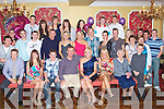 KEY TO THE DOOR: Sarah Rael, Oakpark, Tralee (seated centre) enjoying a great time celebrating her 21st birthday with a large group of family and friends at Imperial hotel, Tralee on Friday.