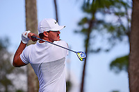 Brooks Koepka (USA) watches his tee shot on 18 during round 2 of the Honda Classic, PGA National, Palm Beach Gardens, West Palm Beach, Florida, USA. 2/24/2017.<br /> Picture: Golffile | Ken Murray<br /> <br /> <br /> All photo usage must carry mandatory copyright credit (&copy; Golffile | Ken Murray)
