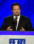 Ben Jealous of Maryland, one of 1900 Bernie Sanders supporters who now supports Hillary Clinton, makes remarks at the 2016 Democratic National Convention at the Wells Fargo Center in Philadelphia, Pennsylvania on Monday, July 25, 2016.<br /> Credit: Ron Sachs / CNP<br /> (RESTRICTION: NO New York or New Jersey Newspapers or newspapers within a 75 mile radius of New York City)