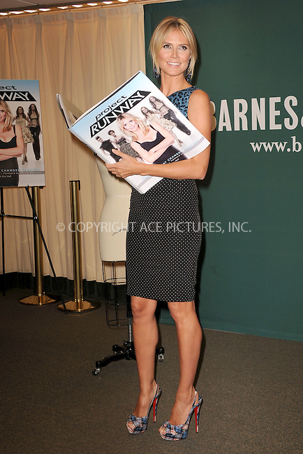WWW.ACEPIXS.COM . . . . . .July 13, 2012...New York City....Heidi Klum celebrates Project Runway, the book, with a signing at Barnes & Noble on July 13, 2012 in New York City ....Please byline: KRISTIN CALLAHAN - ACEPIXS.COM.. . . . . . ..Ace Pictures, Inc: ..tel: (212) 243 8787 or (646) 769 0430..e-mail: info@acepixs.com..web: http://www.acepixs.com .