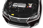 Car Stock 2015 Lexus CT Executive 5 Door Hatchback 2WD Engine high angle detail view