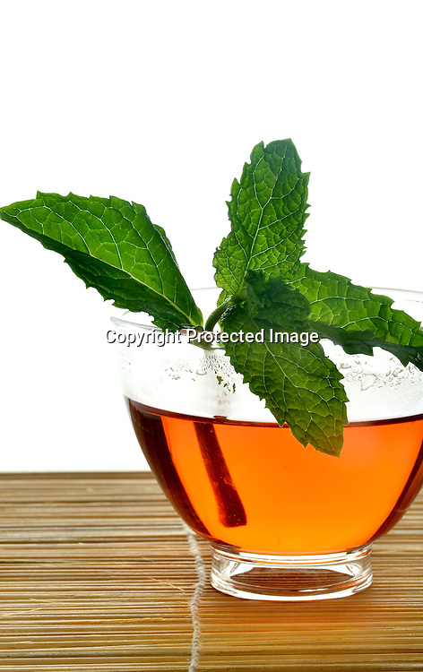 Stock photos of a tea service Stock photo of tea and mint