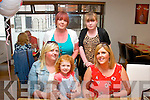 Gemma Lawlor, Fenit (seated right) next to Lorraine and Emily O'Brien, celebrated her birthday in La Scala, Tralee last Friday with at back l-r: Catherine and Kayleigh Fitzmaurice.