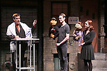 "Adam Feldman, Princeton, Ben Durocher, Kate Monster and Elizabeth Ann Berg during the 'Avenue Q"" 13th Anniversary and 3,QQQ Performance with Bar Mitzvah at the New World Stages on January 12, 2017 in New York City."