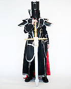 Robert Cassas, of Cary, N.C., dressed as Black Knight from Fire Emblem