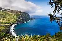 The beautiful Waipiʻo-Valley on the north shore of the Big Island of Hawaii.