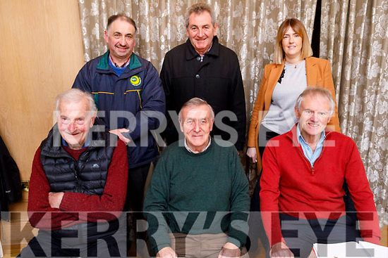 The committee members of the Kerry Supporters Club at their AGM in the Ballygarry House Hotel on Monday night. Seated l to r: Gerry O'Leary (President),   Donie O'Leary (Chairman) and John King (Sec) Leanne Ryan (Treasurer), Standing l to r: Martin Leane (PRO), John O'Connell and Leanne Ryan (Treasurer)
