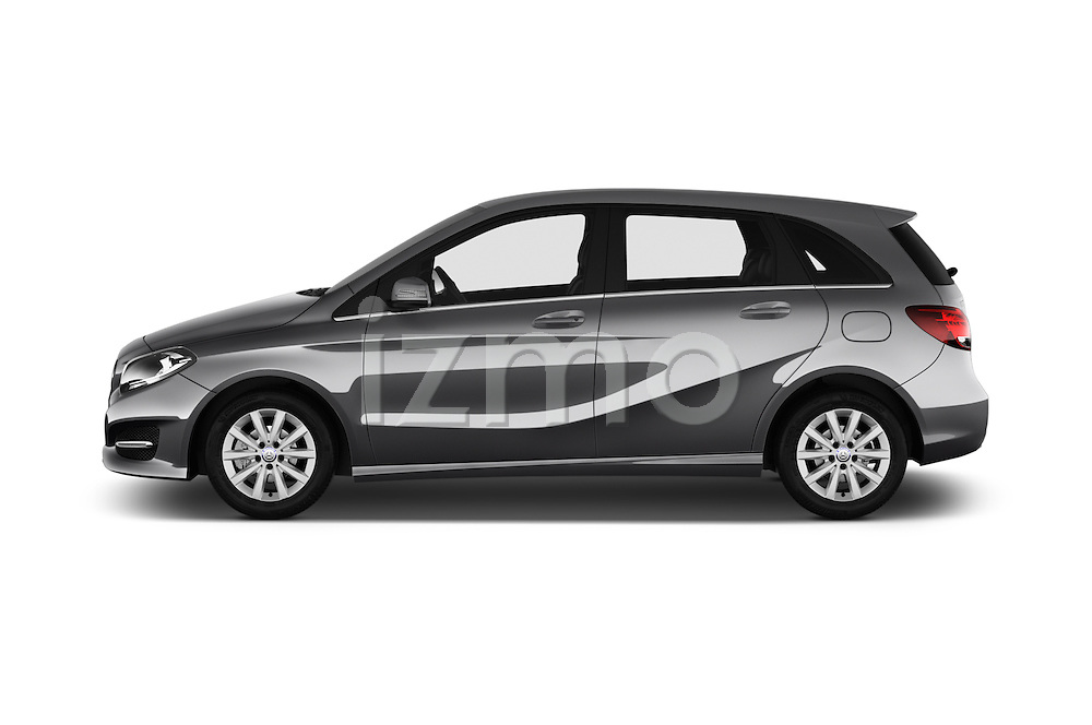 Car Driver side profile view of a 2016 Mercedes Benz B-Class Inspiration 5 Door Mini MPV Side View
