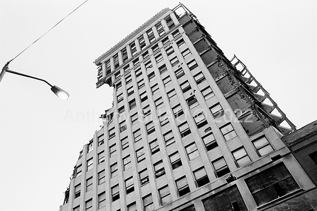 Detroit, Michigan<br /> January 15, 2010<br /> <br /> Downtown Detroit as another historic old building is torn down.