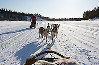 Six dogs can pull two people on a sled., (Photo by Travel Photographer Matt Considine)