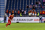 Bui Tien Dung of Vietnam celebrates after scoring his goal during the AFC Asian Cup UAE 2019 Round of 16 match between Jordan (JOR) and Vietnam (VIE) at Al Maktoum Stadium on 20 January 2019 in Dubai, United Arab Emirates. Photo by Marcio Rodrigo Machado / Power Sport Images