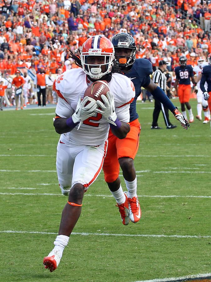 Clemson wide receiver Sammy Watkins (2) during and NCAA football game at Scott Stadium in Charlottesville, VA. Clemson defeated Virginia 59-10. Photo/Andrew Shurtleff