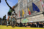 Marcus Burghardt (GER) Bora-Hansgrohe at the team presentation in Antwerp before the start of the 2019 Ronde Van Vlaanderen 270km from Antwerp to Oudenaarde, Belgium. 7th April 2019.<br /> Picture: Eoin Clarke | Cyclefile<br /> <br /> All photos usage must carry mandatory copyright credit (&copy; Cyclefile | Eoin Clarke)