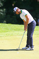 Alejandro Canizares putts at the 17th greenduring the BMW PGA Golf Championship at Wentworth Golf Course, Wentworth Drive, Virginia Water, England on 26 May 2017. Photo by Steve McCarthy/PRiME Media Images.