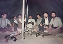 Iraq 1990 .In Kani Kara, peshmergas of Kurdistan Socialist Democratic Party ready to go to fight . Irak 1990 .A Kani kara, peshmergas du parti socialiste democratique du Kurdistan prets a partir se battre