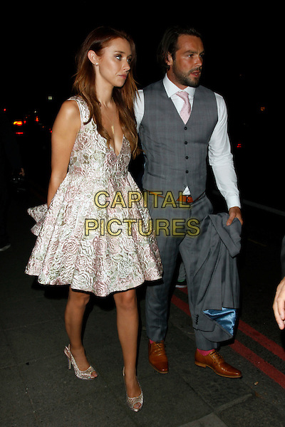 LONDON, ENGLAND - SEPTEMBER 28 :  Una Healy and Ben Foden leave The Pride Of Britain Awards 2015, at the Grosvenor House Hotel on September 28, 2015 in London, England.<br /> CAP/AH<br /> &copy;Adam Houghton/Capital Pictures