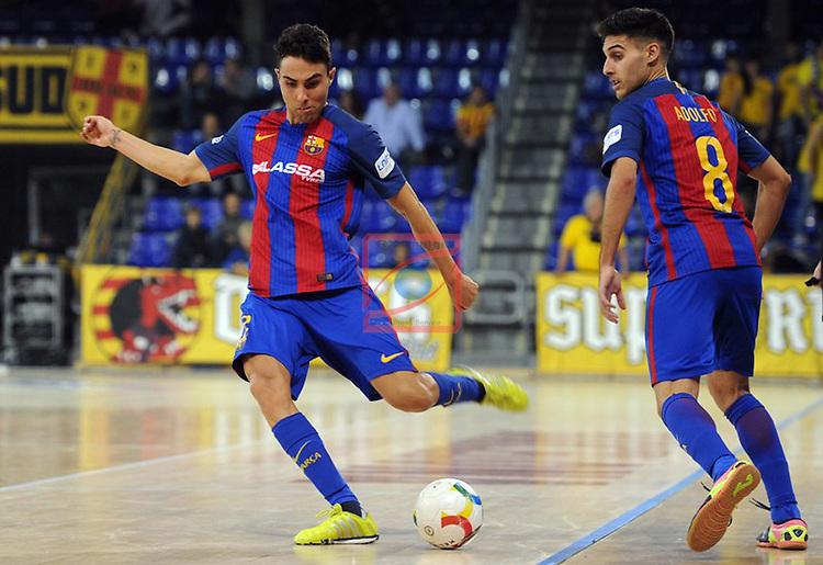 League LNFS 2016/2017 - Game 6.<br /> FC Barcelona Lassa vs Aspil Vidal Ribera Navarra: 7-1.<br /> Aicardo &amp; Adolfo.