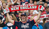 Foxborough, Massachusetts - June 17, 2017: In a Major League Soccer (MLS) match, Chicago Fire (red) defeated New England Revolution (blue/white), 2-1, at Gillette Stadium.