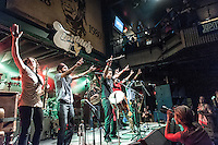 Red Baraat performing at Tipitinas in New Orleans, LA.
