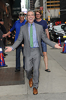 www.acepixs.com<br /> June 7, 2017 New York City<br /> <br /> Andy Cohen arriving to tape an appearance on 'The Late Show with Stephen Colbert' on June 7, 2017 in New York City.<br /> <br /> Credit: Kristin Callahan/ACE Pictures<br /> <br /> Tel: (646) 769 0430<br /> e-mail: info@acepixs.com
