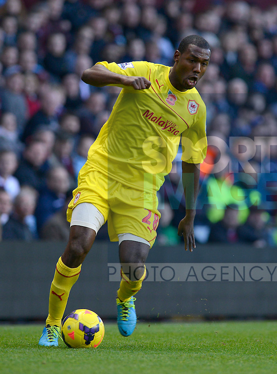 Kevin Theophile-Catherine of Cardiff City - Football - Barclays Premier League - Aston Villa vs Cardiff City - Villa Park Birmingham - Season 2013-14 - 9th November 2013 - Credit Malcolm Couzens/Sportimage