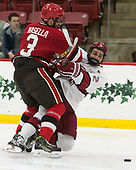 Ben Masella (SLU - 3), Phil Zielonka (Harvard - 72) - The Harvard University Crimson defeated the St. Lawrence University Saints 6-3 (EN) to clinch the ECAC playoffs first seed and a share in the regular season championship on senior night, Saturday, February 25, 2017, at Bright-Landry Hockey Center in Boston, Massachusetts.
