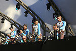 AG2R La Mondiale team on stage at sign on before the 101st edition of the Tour of Flanders 2017 running 261km from Antwerp to Oudenaarde, Flanders, Belgium. 26th March 2017.<br /> Picture: Eoin Clarke | Cyclefile<br /> <br /> <br /> All photos usage must carry mandatory copyright credit (&copy; Cyclefile | Eoin Clarke)