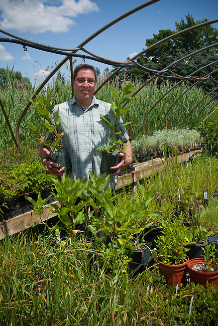 Owner and Master Gardener, Ken Parker (Seneca) of Sweet Grass Gardens Nursery carries several rare or hard-to-find plant species that are grown in large green houses. Six Nations of the Grand River Reservation, Ohsweken Ontario Canada