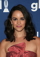 BEVERLY HILLS, CA - APRIL 12: Melissa Fumero, At the 29th Annual GLAAD Media Awards at The Beverly Hilton Hotel on April 12, 2018 in Beverly Hills, California. <br /> CAP/MPI/FS<br /> &copy;FS/MPI/Capital Pictures